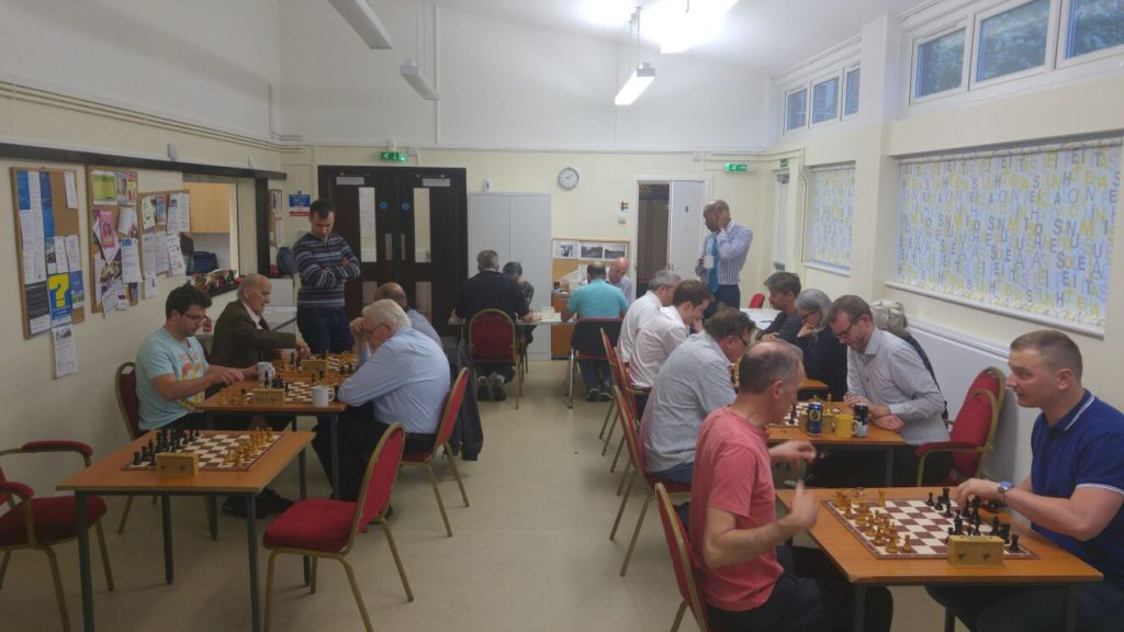 A fantastic turnout for the blitz tournaments - 19 boards!